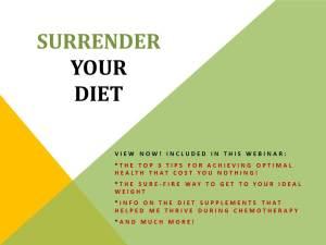 Surrender Your Diet - Slide Flyer